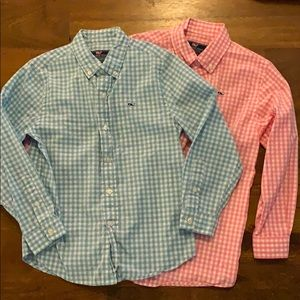 Two Vineyard vines boys button down shirts 7